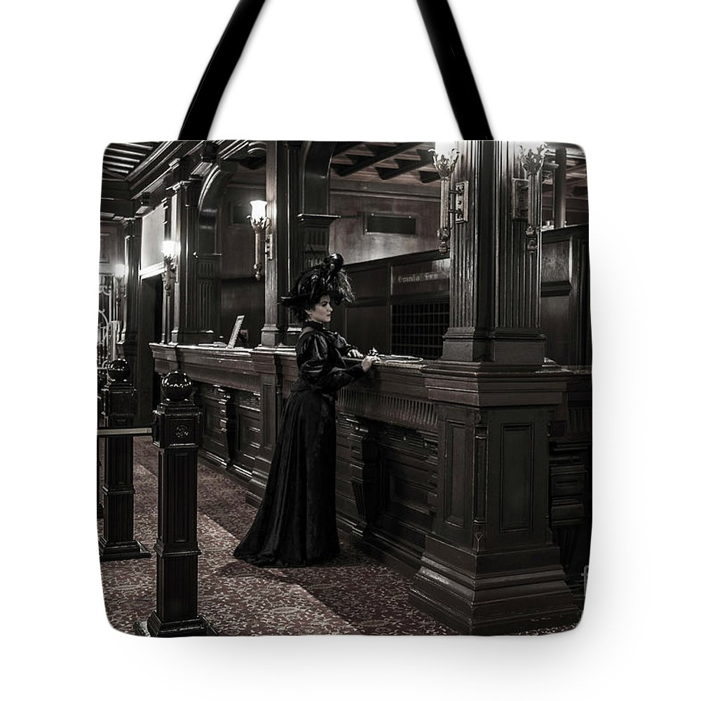 Ghost Tote Bag featuring the photograph Kate Morgan Checking In At The Hotel Del Coronado by Sad Hill - Bizarre Los Angeles Archive