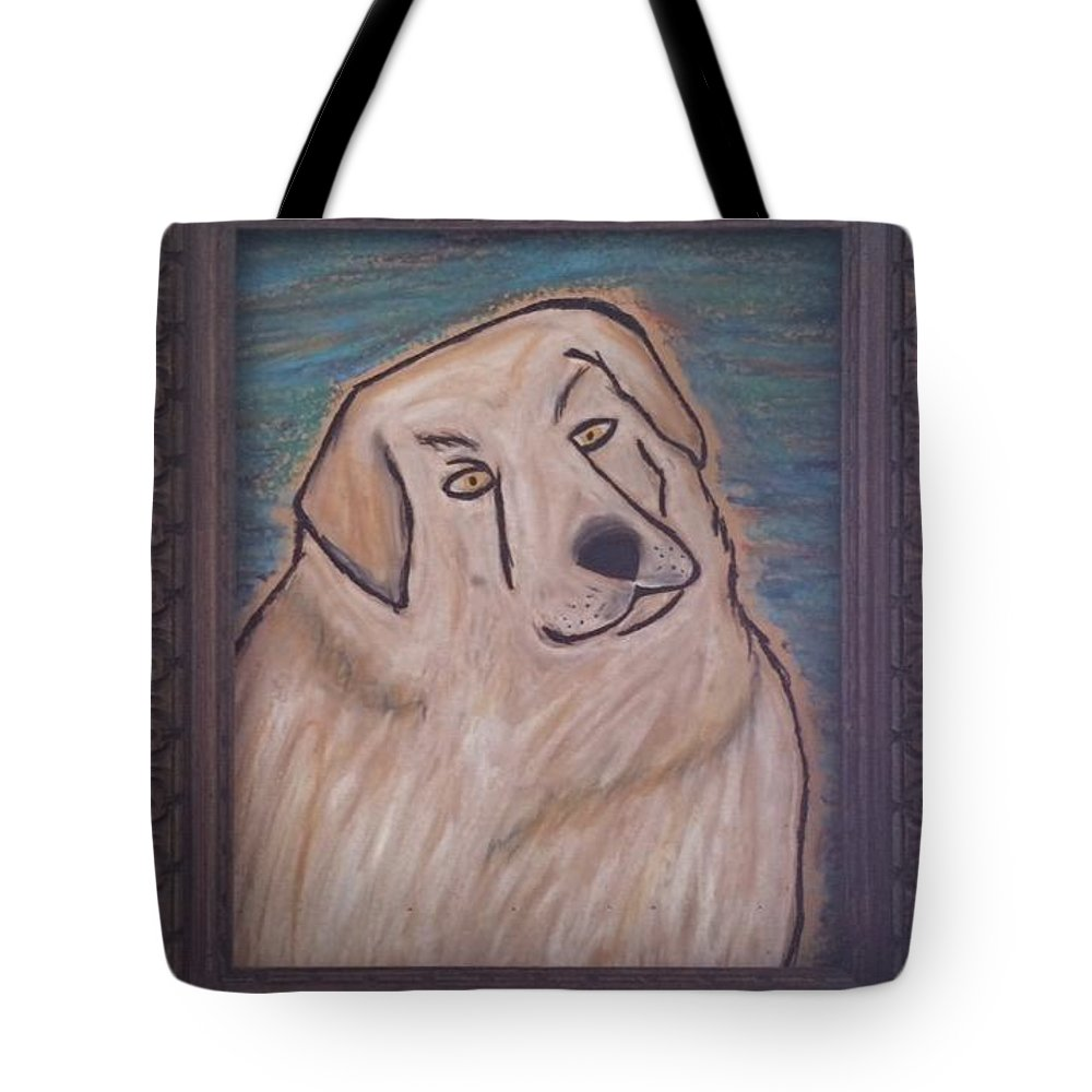 Tote Bag featuring the pastel Kathy by Peter Petunia