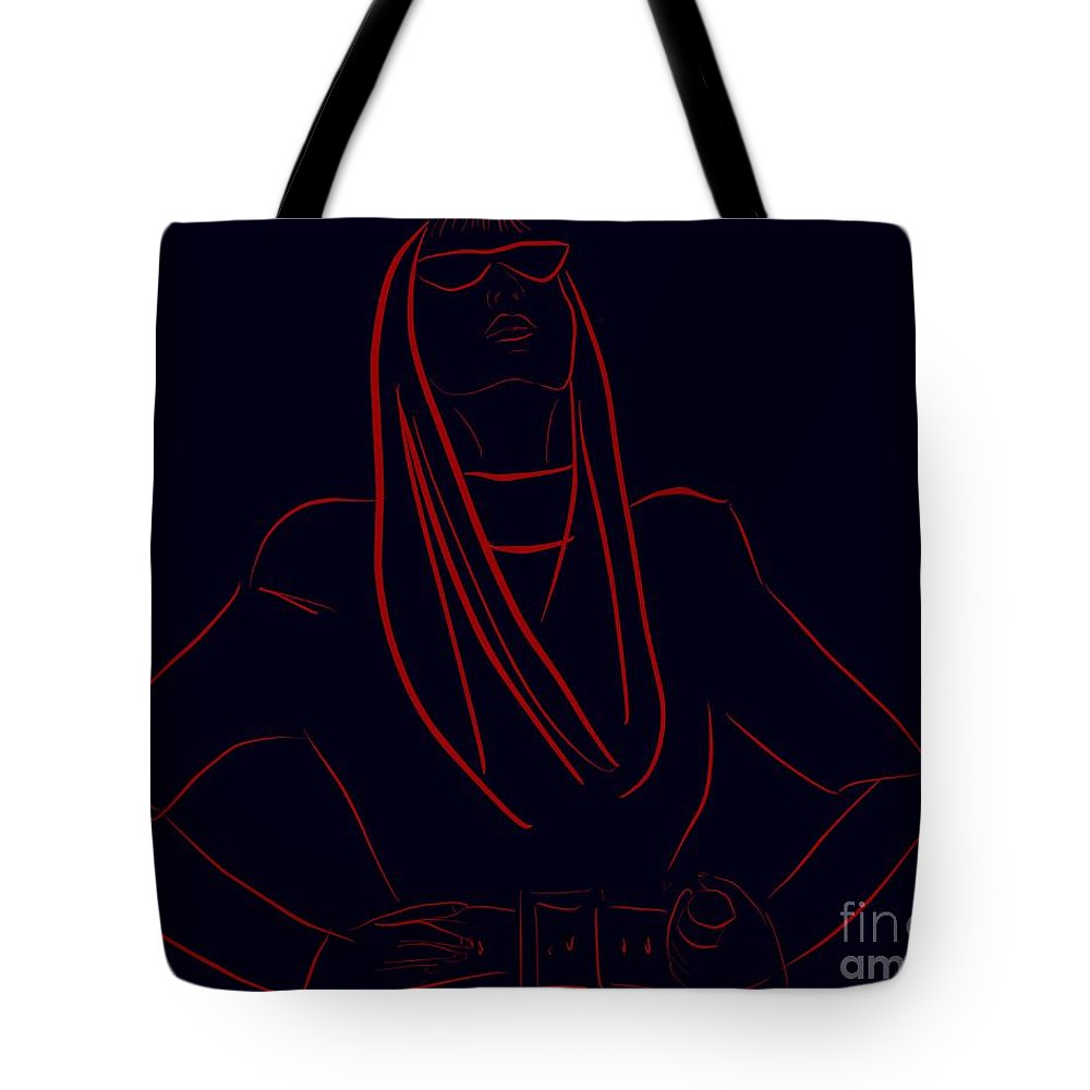 Katy Perry Tote Bag featuring the painting Katy Perry Silhouette by Jack Bunds