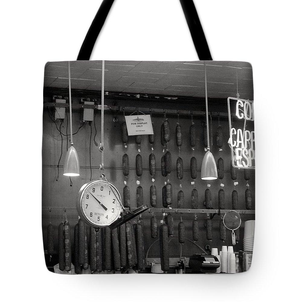 Deli Tote Bag featuring the photograph Katz Deli by Debbi Granruth