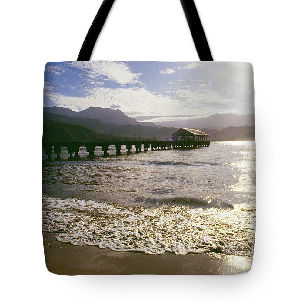 Afternoon Tote Bag featuring the photograph Kauai, Hanalei Bay by Dana Edmunds - Printscapes