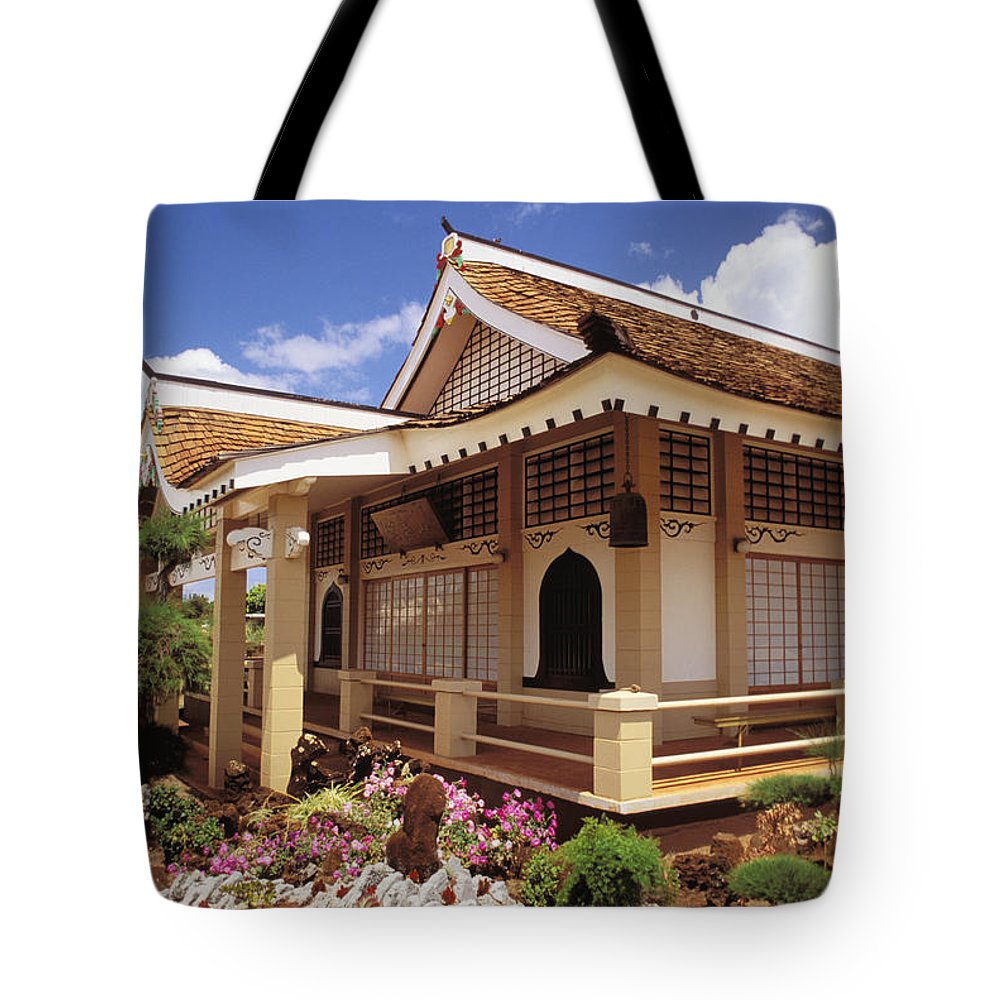 Architecture Tote Bag featuring the photograph Kauai, Hanapepe by Peter French - Printscapes
