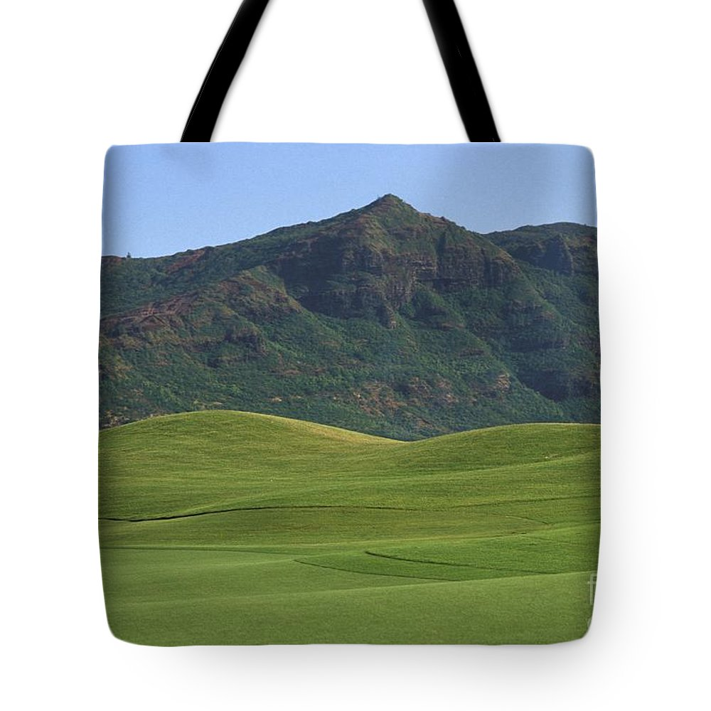 Blue Tote Bag featuring the photograph Kauai Marriott Golf Cours by William Waterfall - Printscapes