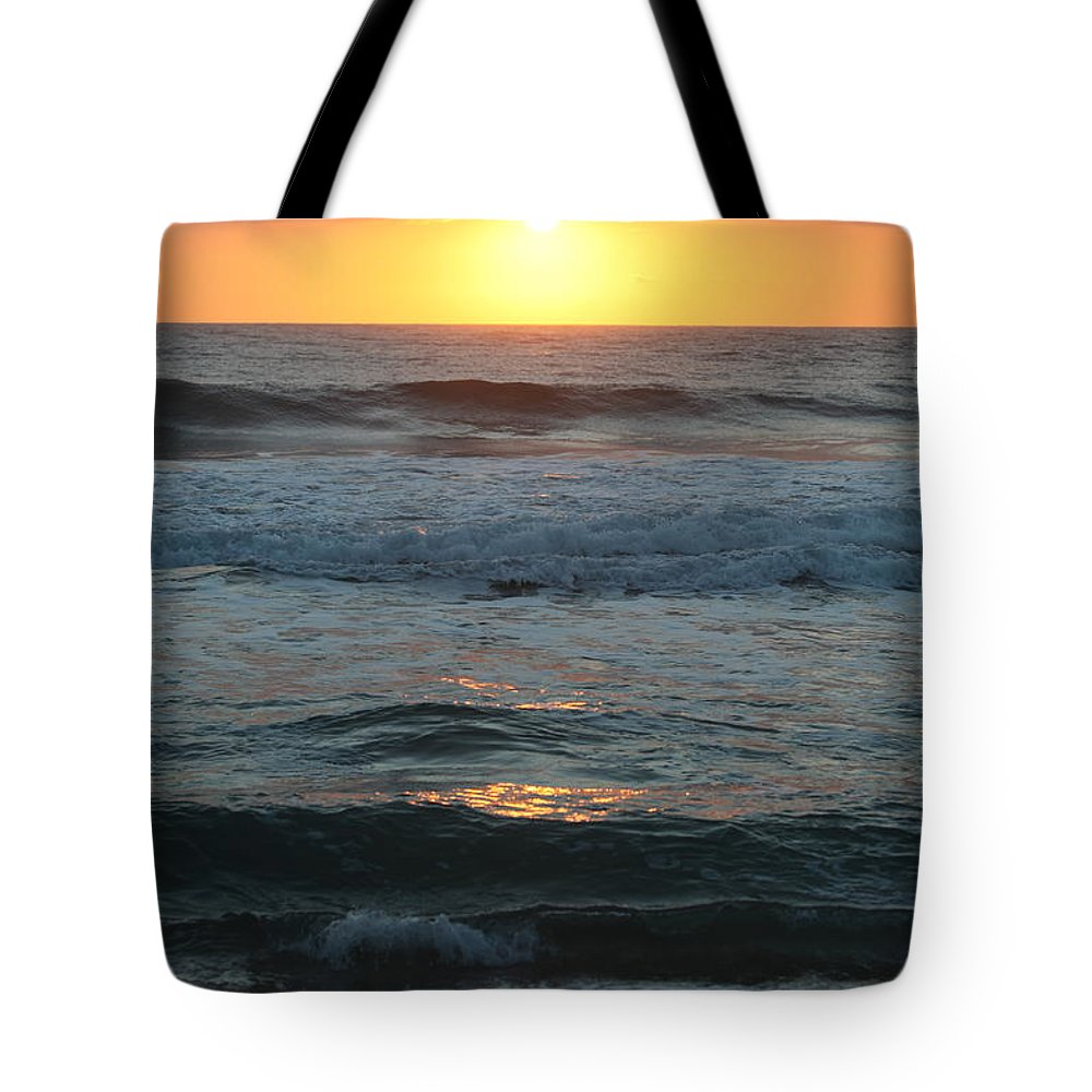 Kauai Tote Bag featuring the photograph Kauai Sunrise by Nadine Rippelmeyer