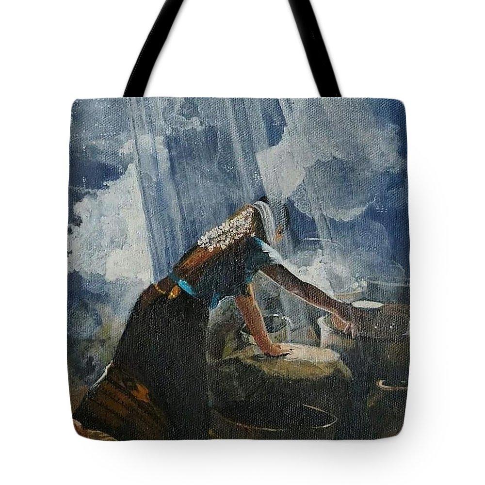 Women Tote Bag featuring the painting Kawadasa by Prajakta Tale