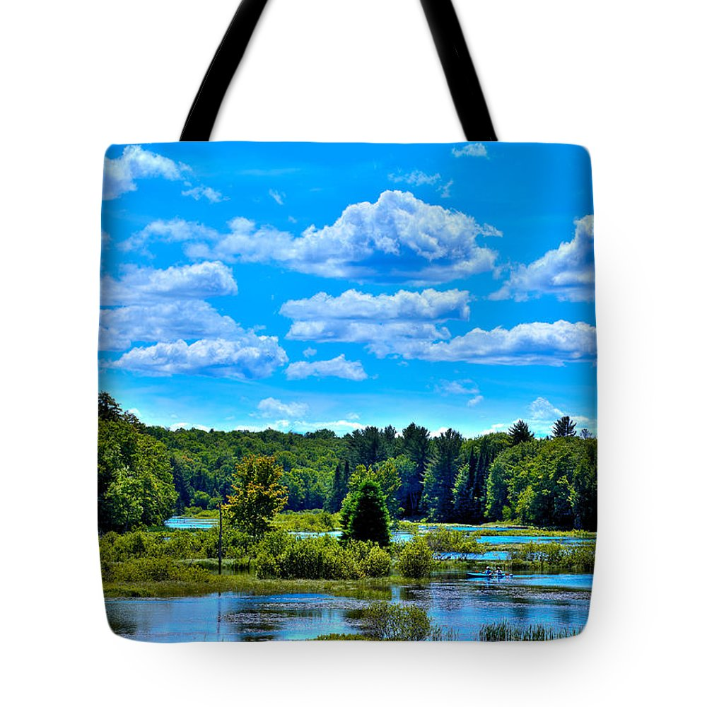 Kayak On The Moose River Tote Bag featuring the photograph Kayak On The Moose River by David Patterson