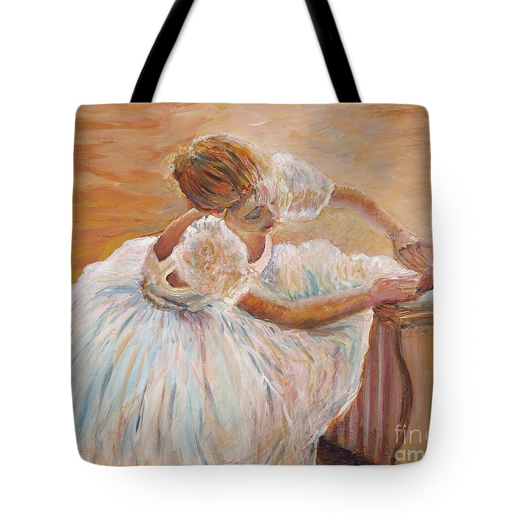 Dancer Tote Bag featuring the painting Kaylea by Nadine Rippelmeyer