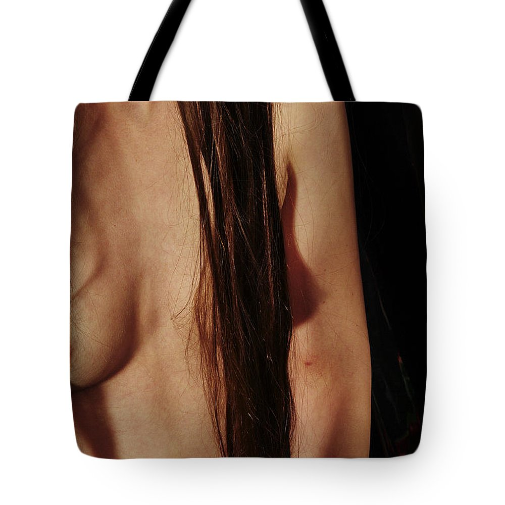 Female Nude Abstract Mirrors Flowers Photographs Tote Bag featuring the photograph Kazi11125 by Henry Butz