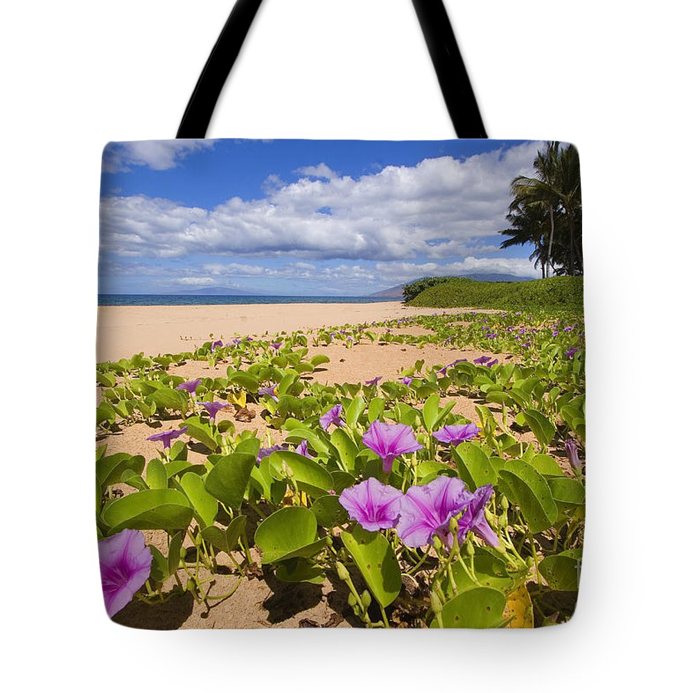 66-csm0133 Tote Bag featuring the photograph Keawakapu Beach by Ron Dahlquist - Printscapes