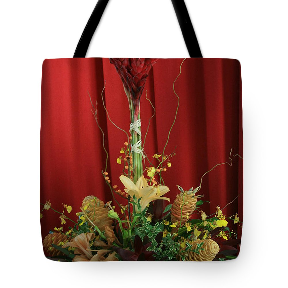 Aloha Tote Bag featuring the photograph Keawalai Still Life Tropical Flowers by Sharon Mau
