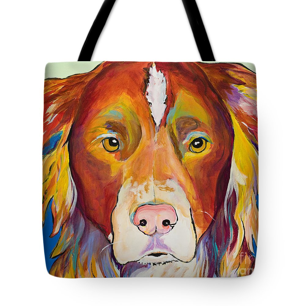 Australian Border Collie Tote Bag featuring the painting Keef by Pat Saunders-White
