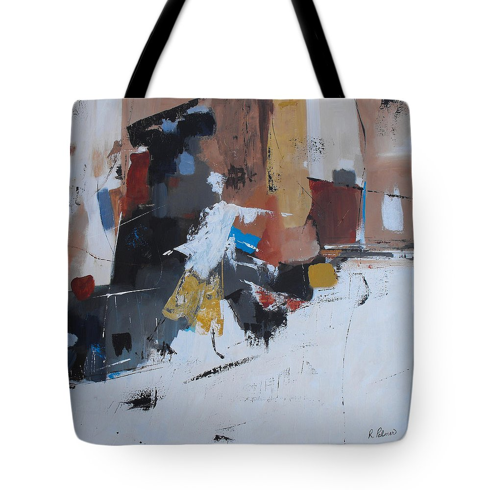 Abstract Tote Bag featuring the painting Keep On Dancin' by Ruth Palmer