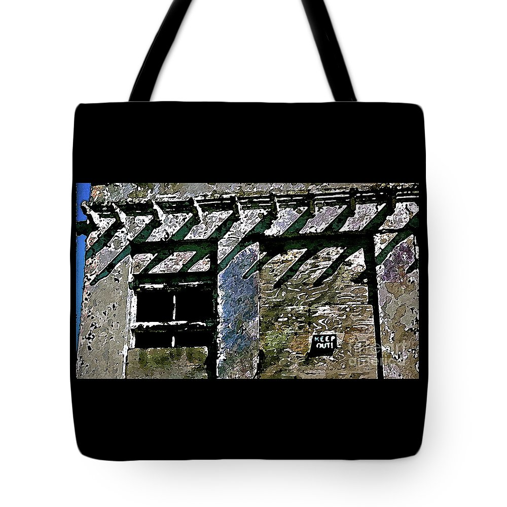 Tote Bag featuring the photograph Keep Out by Anthony Pelosi