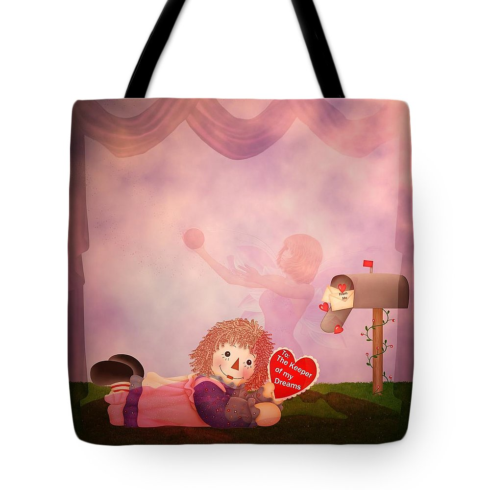Valentine Tote Bag featuring the digital art Keeper Of My Dreams by RiaL Treasures