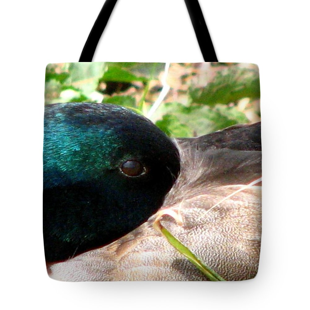 Duck Tote Bag featuring the photograph Keeping A Watchful Eye 2 by J M Farris Photography
