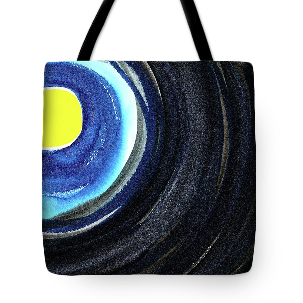 Moon Tote Bag featuring the painting Keeping The Dark At Bay by Tonya Doughty