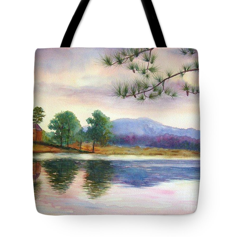 Marietta Tote Bag featuring the painting Kennesaw Mt. by Ann Cockerill