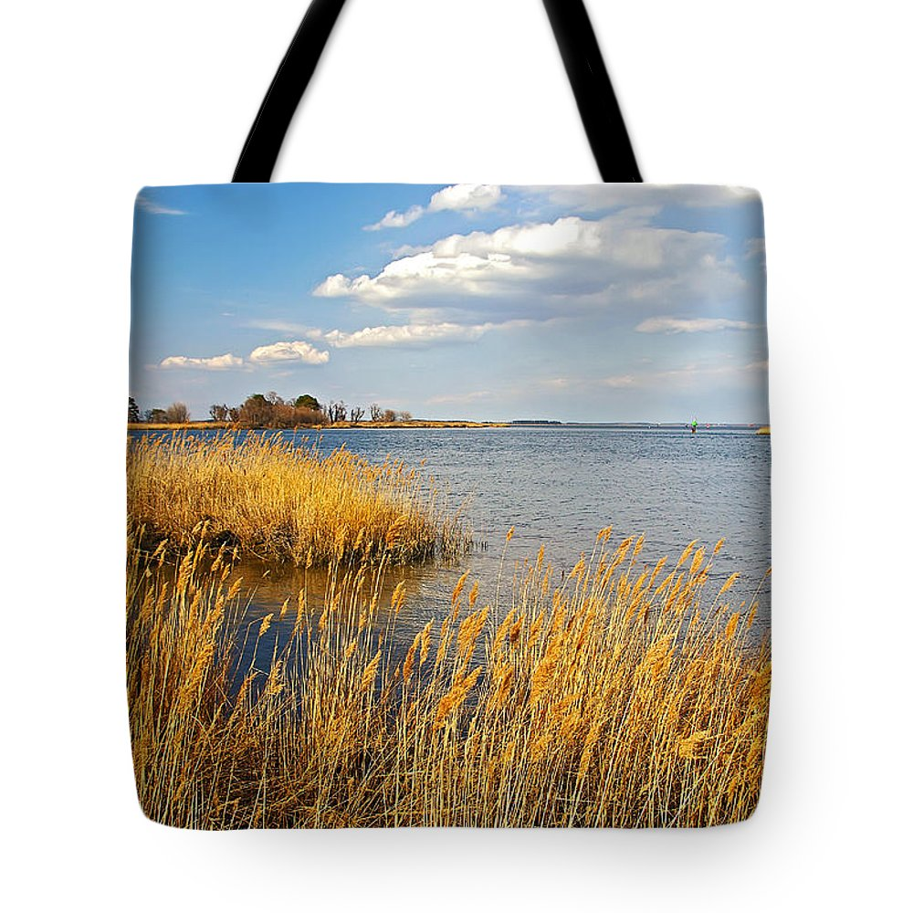 2d Tote Bag featuring the photograph Kent Island by Brian Wallace