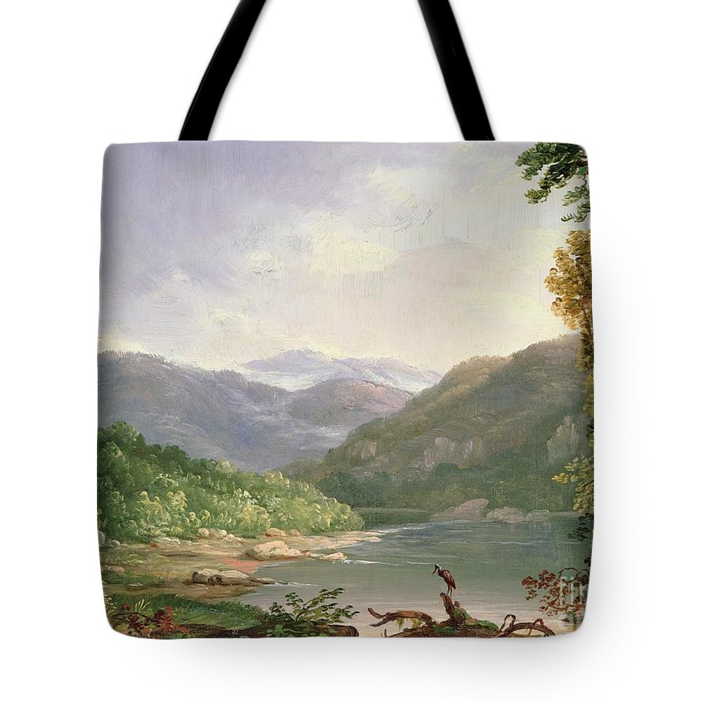 Kentucky River Tote Bag featuring the painting Kentucky River by Thomas Worthington Whittredge