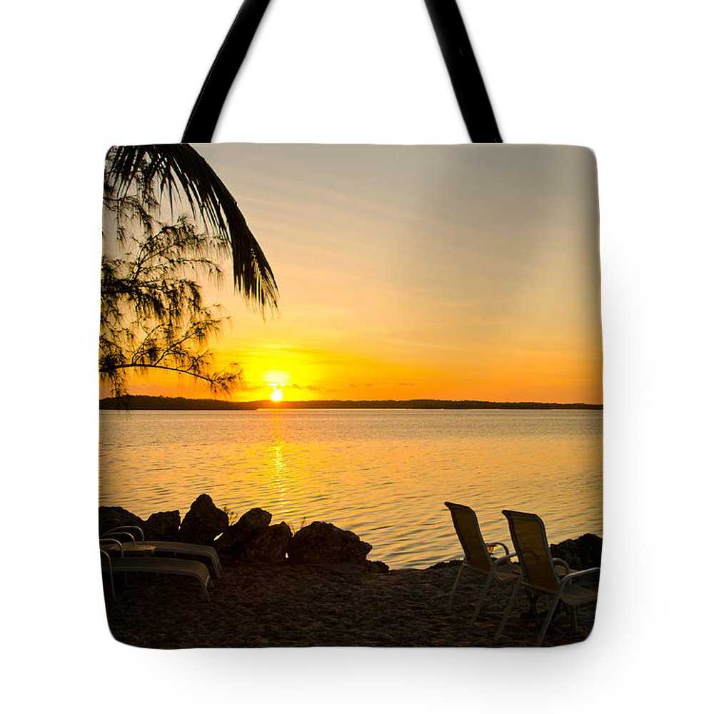Sunrise Tote Bag featuring the photograph Key Largo Sunrise by Chris Thaxter