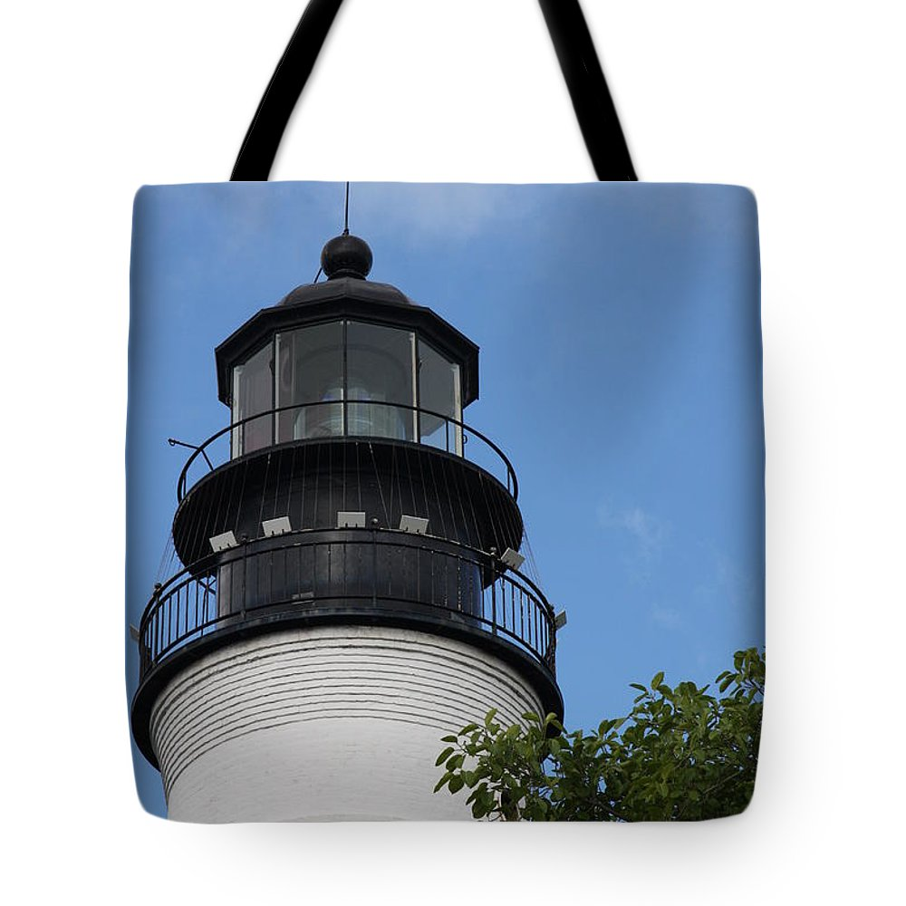 Lighthouse Tote Bag featuring the photograph Key West Light by Christiane Schulze Art And Photography