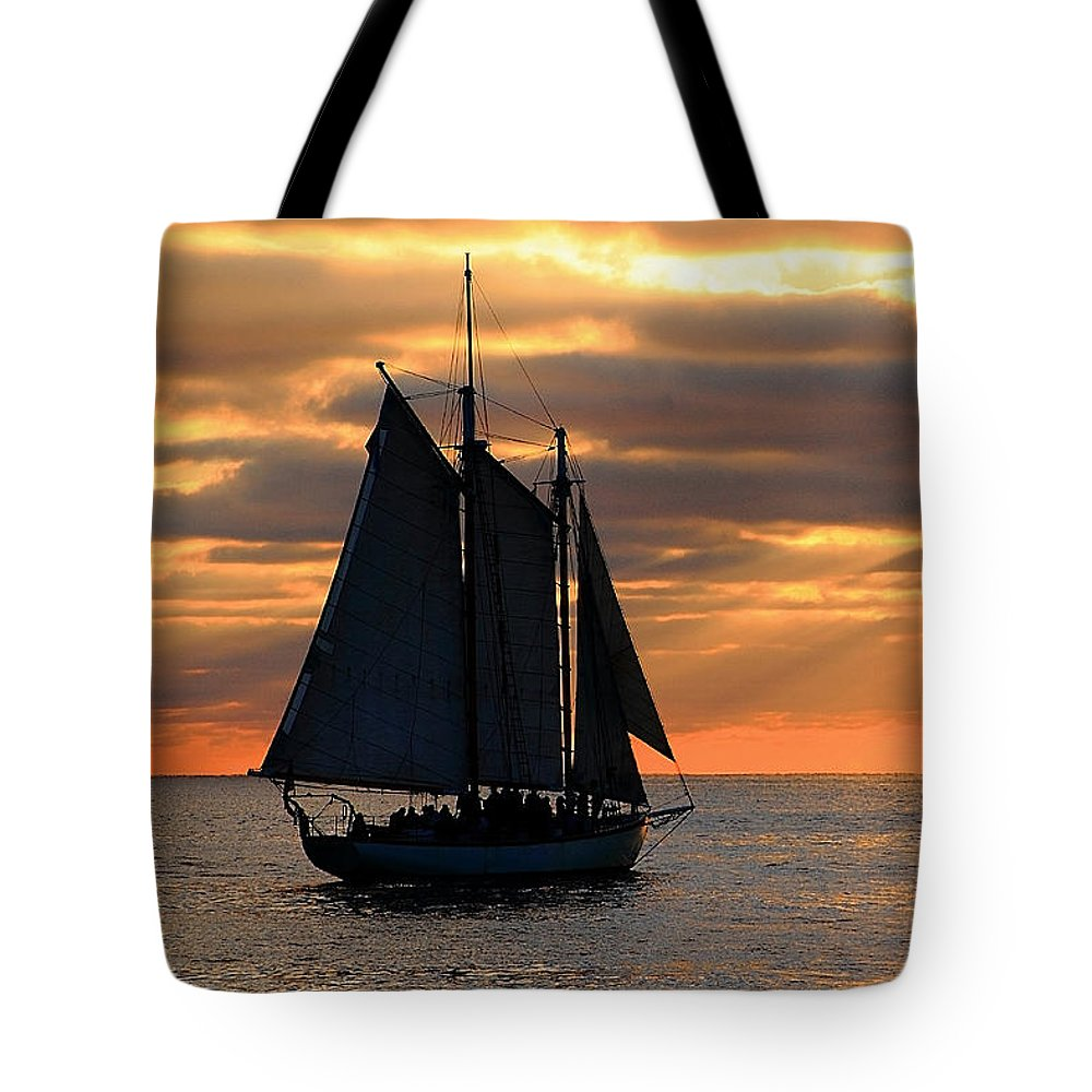 Water Tote Bag featuring the photograph Key West Sunset Sail 6 by Bob Slitzan