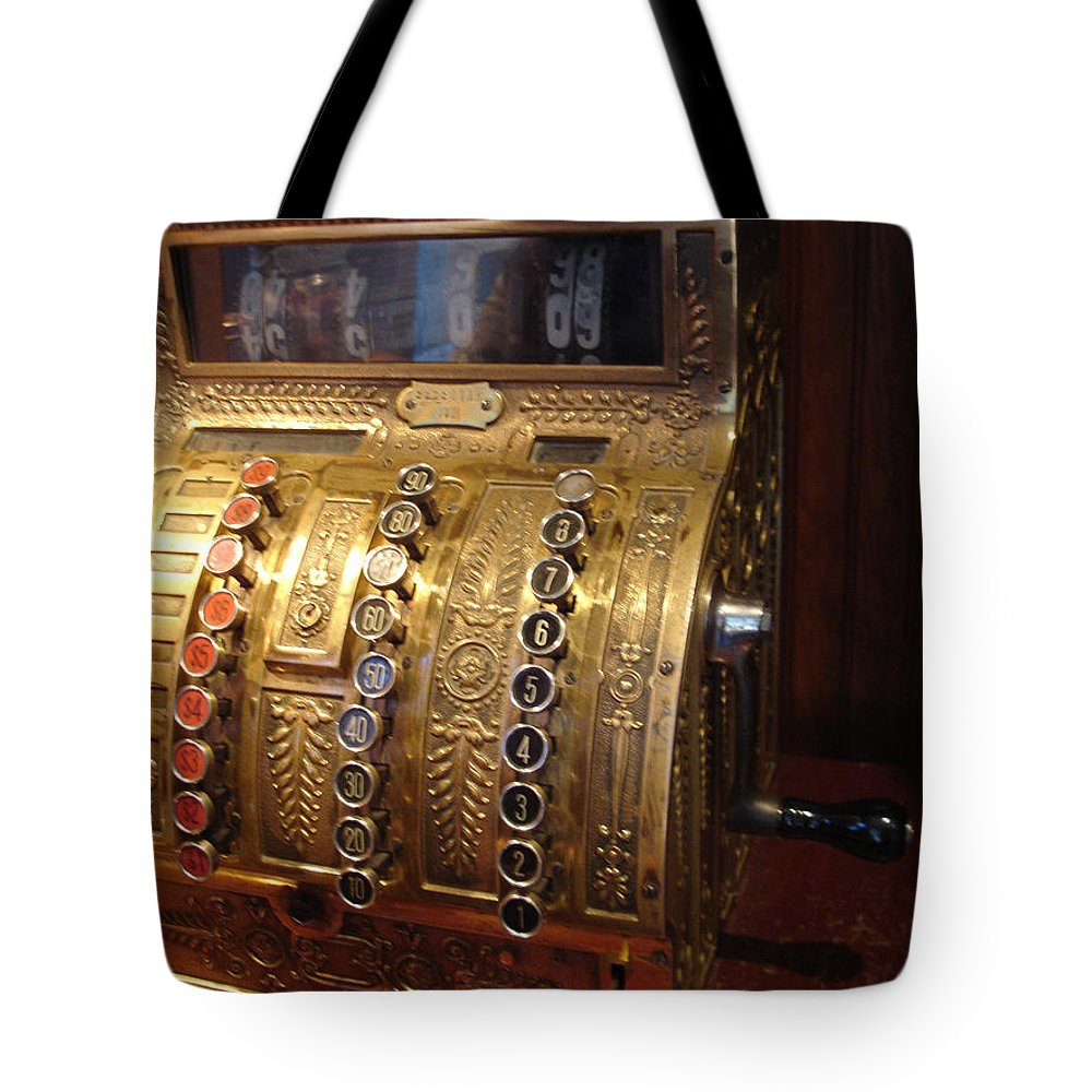 Cash Register Tote Bag featuring the photograph Keys Of Time 2 by Shelley Jones