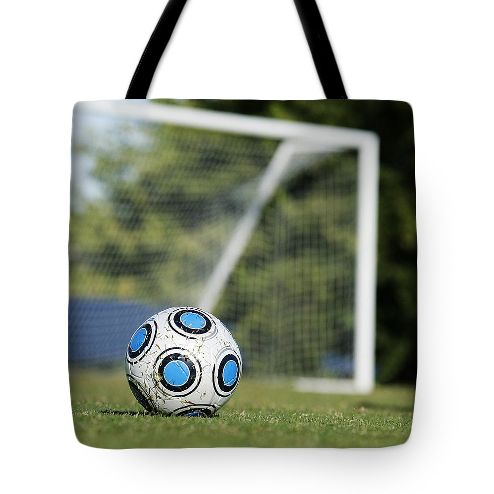 Soccer Tote Bag featuring the photograph Kick Me by Kelley King