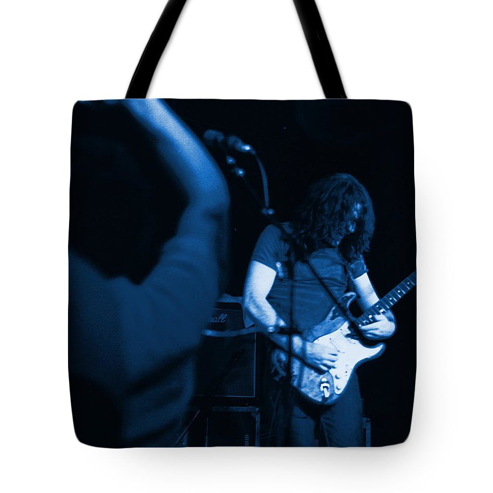 Rory Gallagher Tote Bag featuring the photograph Kickback City Blues by Ben Upham