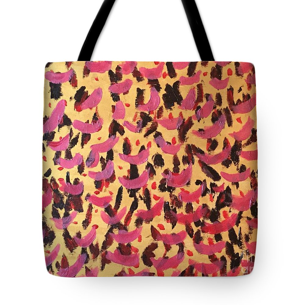 Abstract Tote Bag featuring the painting Queen- Killer Queen by Rebecca Snowball