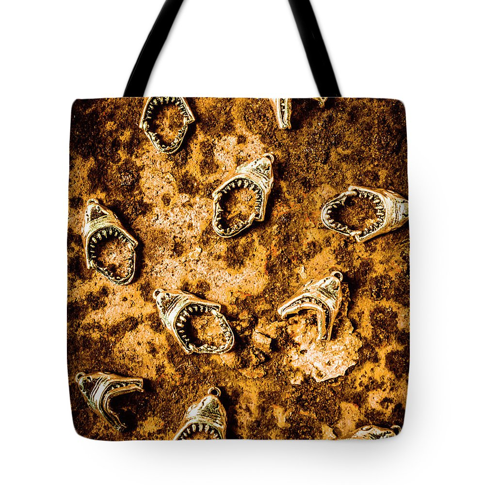Shark Tote Bag featuring the photograph Killer Shark Jaws by Jorgo Photography - Wall Art Gallery