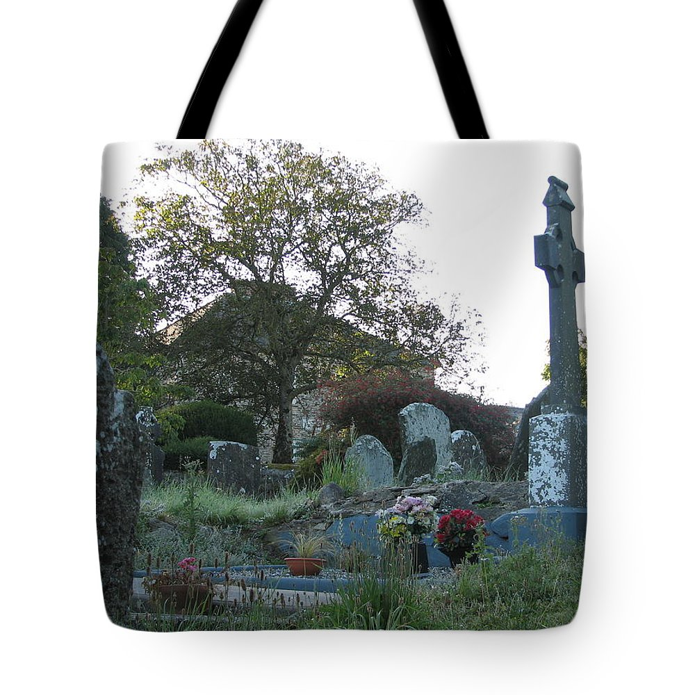 Graveyard Tote Bag featuring the photograph Kilmokea Graveyard by Kelly Mezzapelle