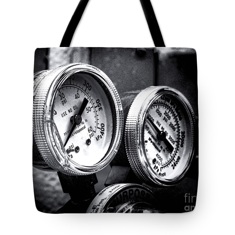 Industrial Tote Bag featuring the photograph Kilopascal by Olivier Le Queinec