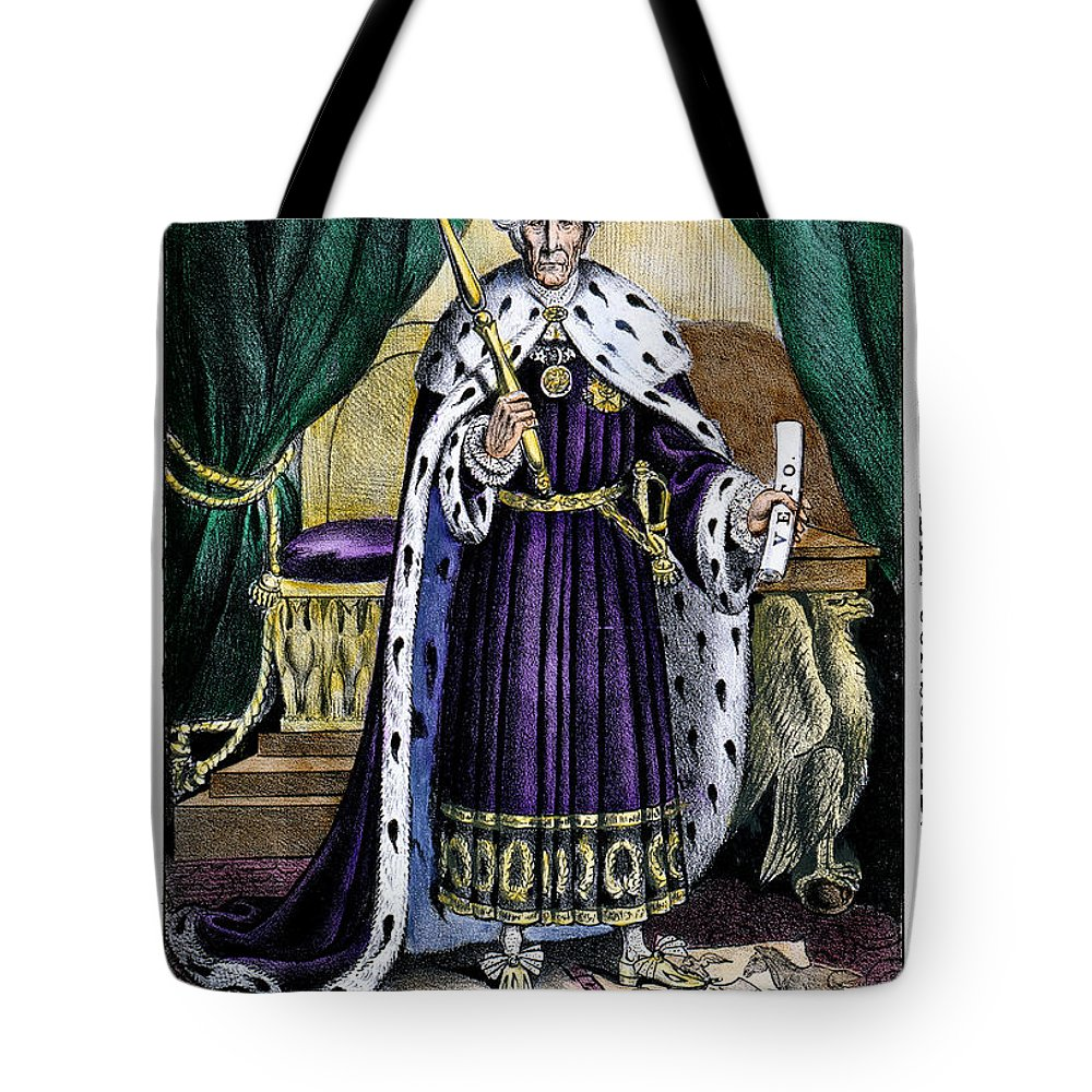 1832 Tote Bag featuring the photograph King Andrew The First by Granger