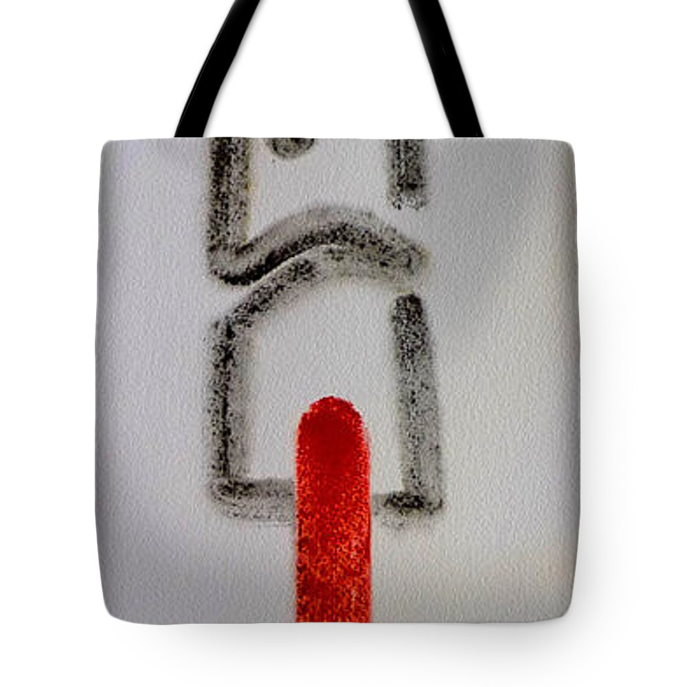 Figure Tote Bag featuring the drawing King by Charles Stuart