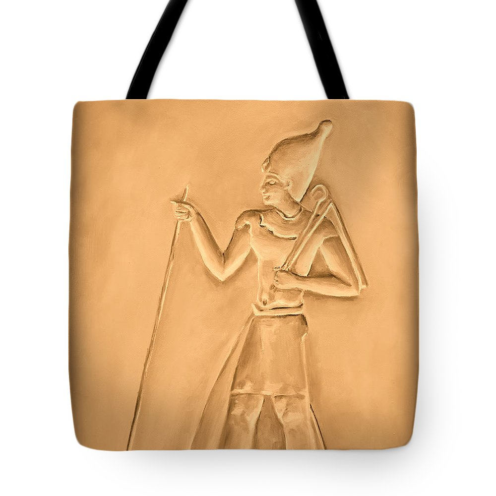 Egyptian Tote Bag featuring the painting King by Elizabeth Lock