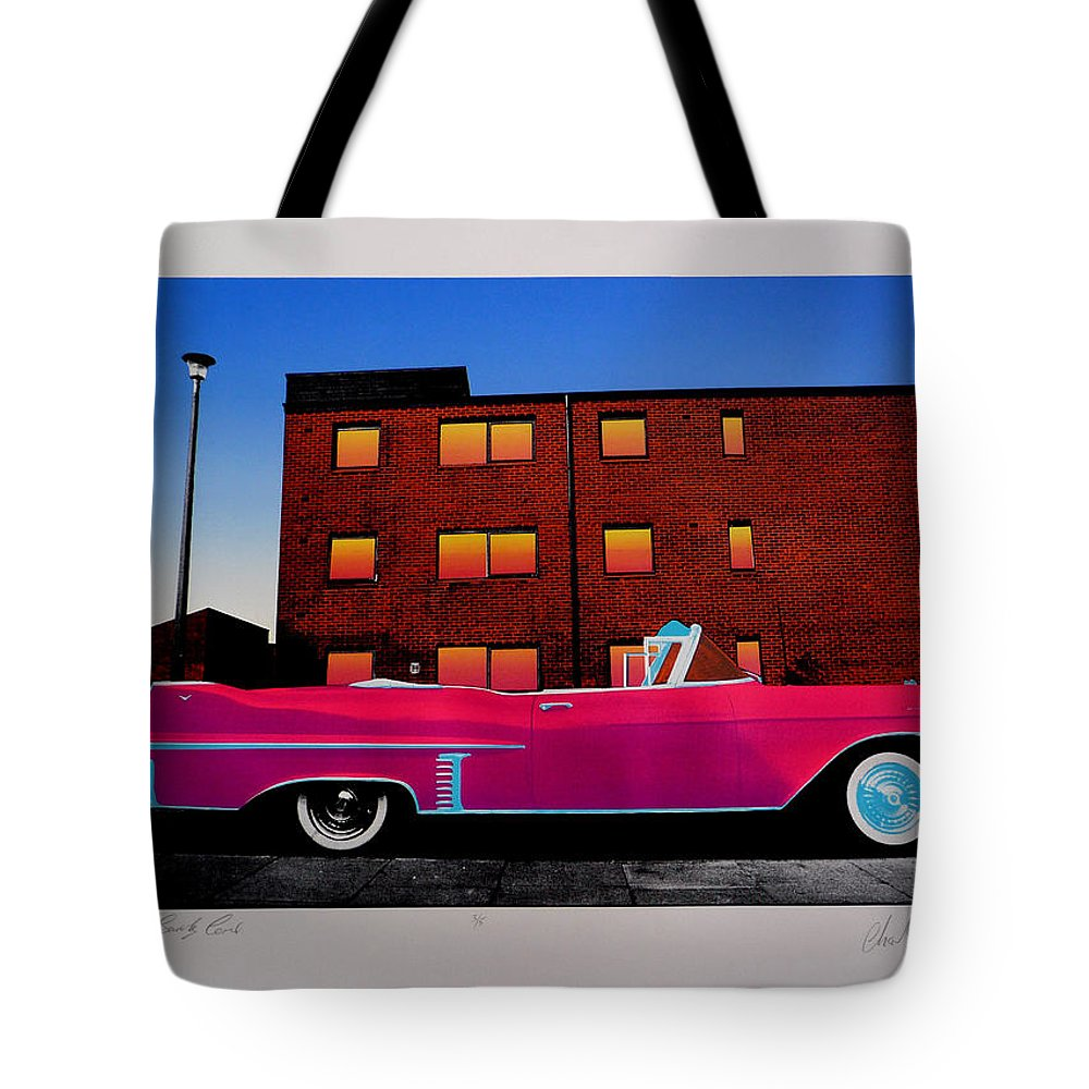 Tote Bag featuring the photograph King Elvis Has Surely Come by Charles Stuart