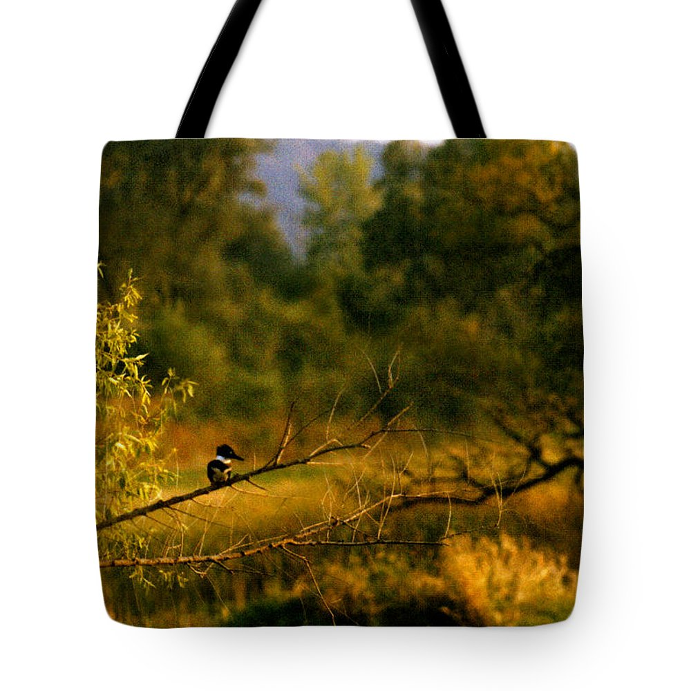 Landscape Tote Bag featuring the photograph King Fisher by Steve Karol