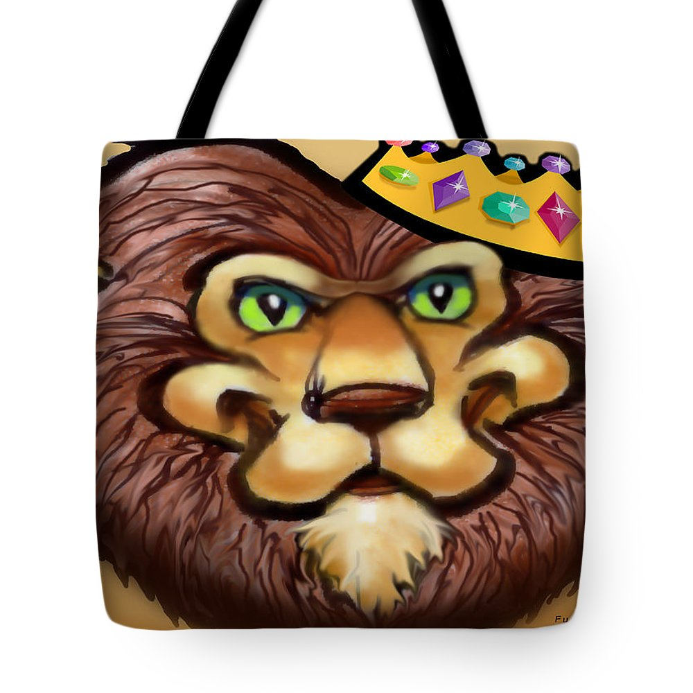 Lion Tote Bag featuring the digital art King by Kevin Middleton
