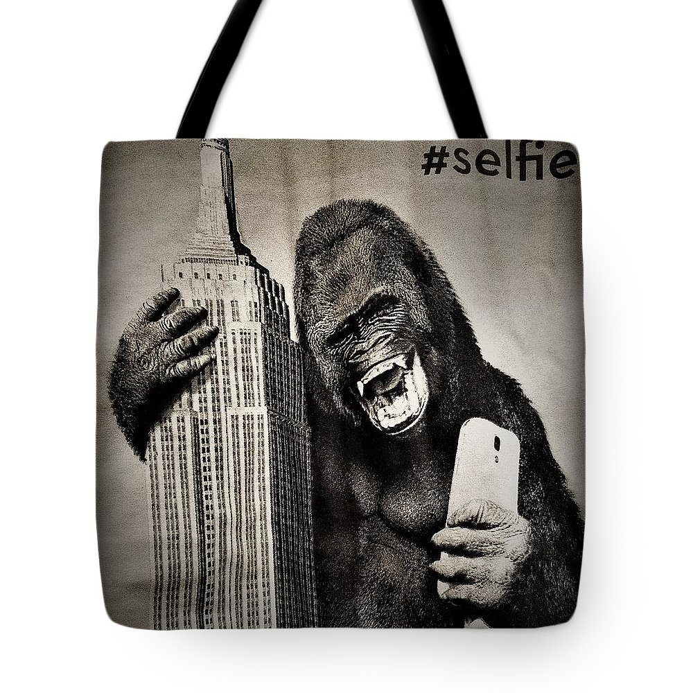 Architecture Tote Bag featuring the photograph King Kong Selfie by Rob Hans