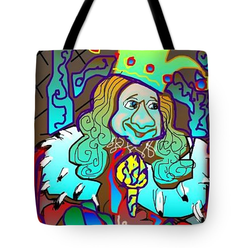 Royalty Tote Bag featuring the greeting card King Of Fools by Rae Chichilnitsky