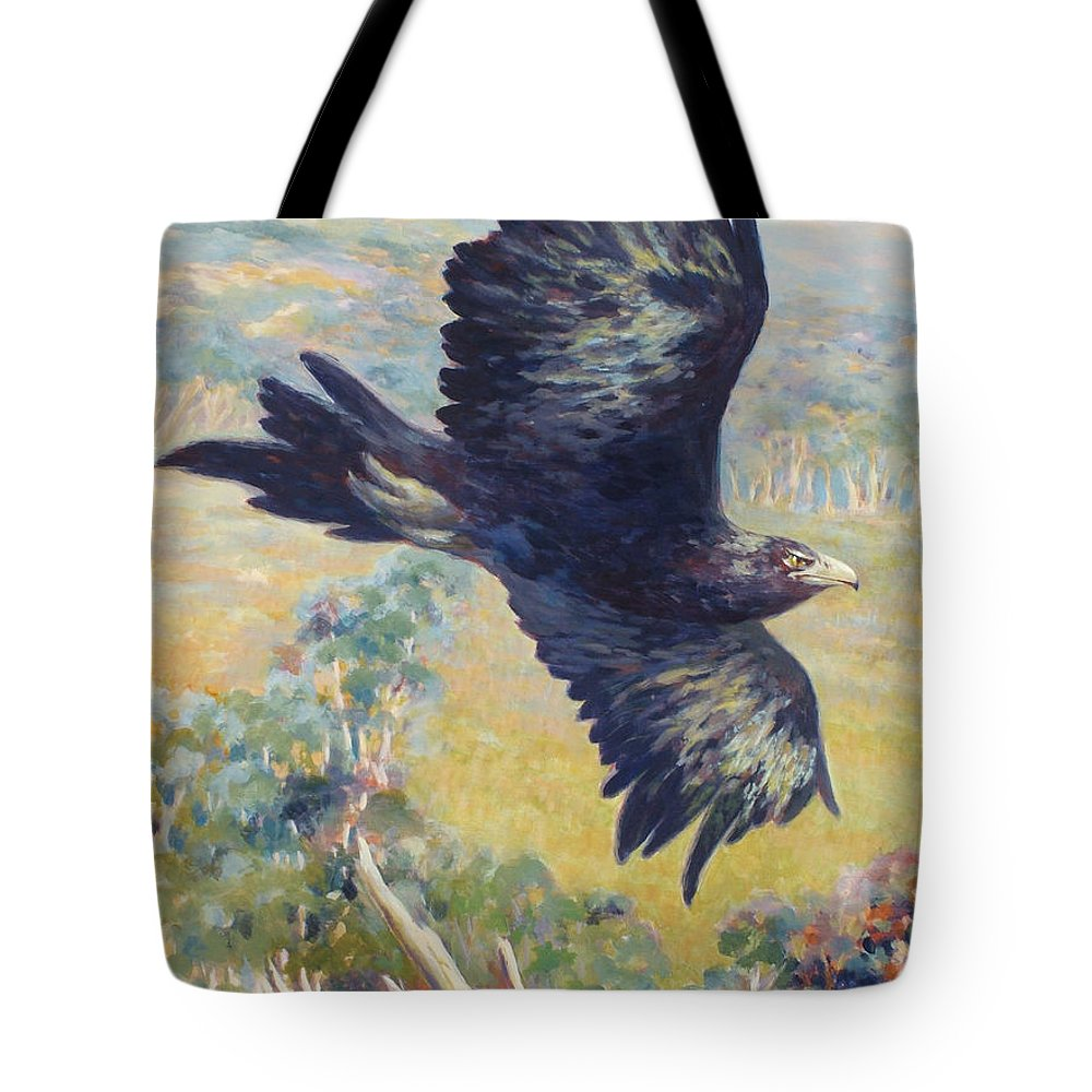 Eagle Tote Bag featuring the painting King Of The Air by Ekaterina Mortensen