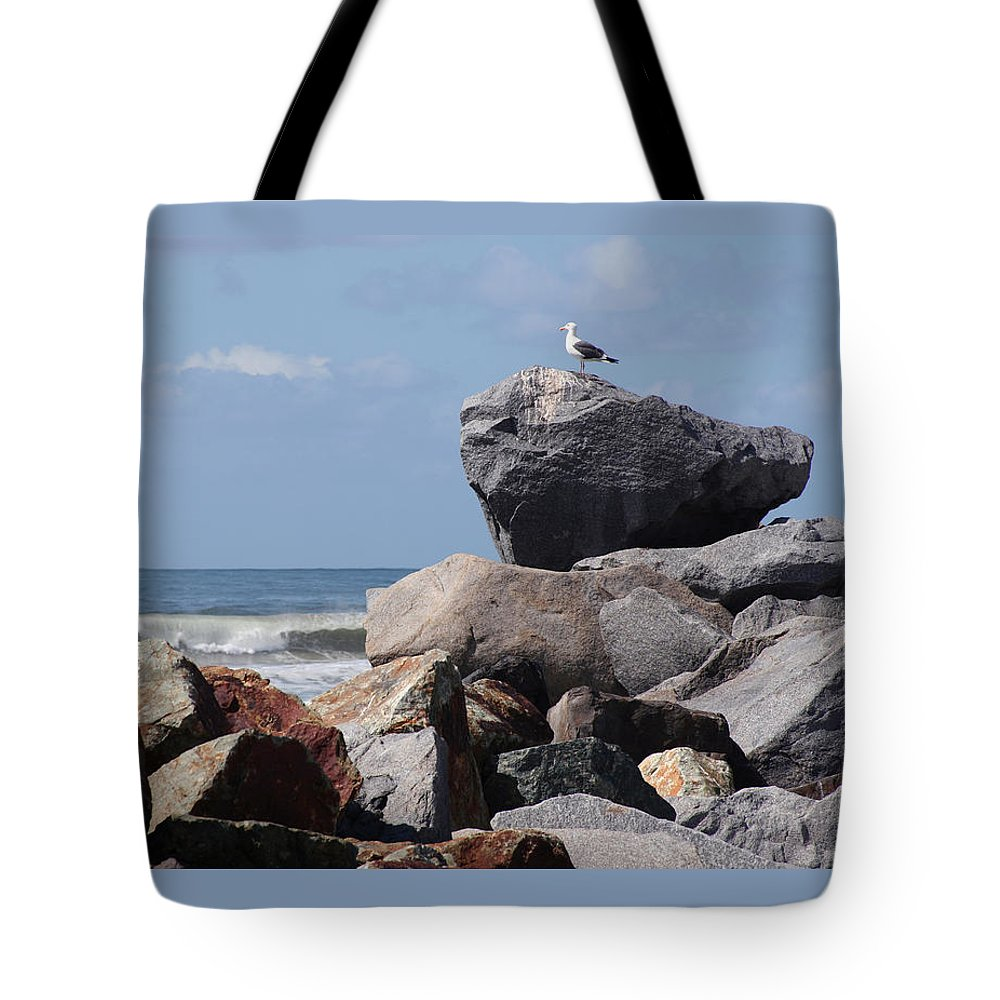 Beach Tote Bag featuring the photograph King Of The Rocks by Margie Wildblood