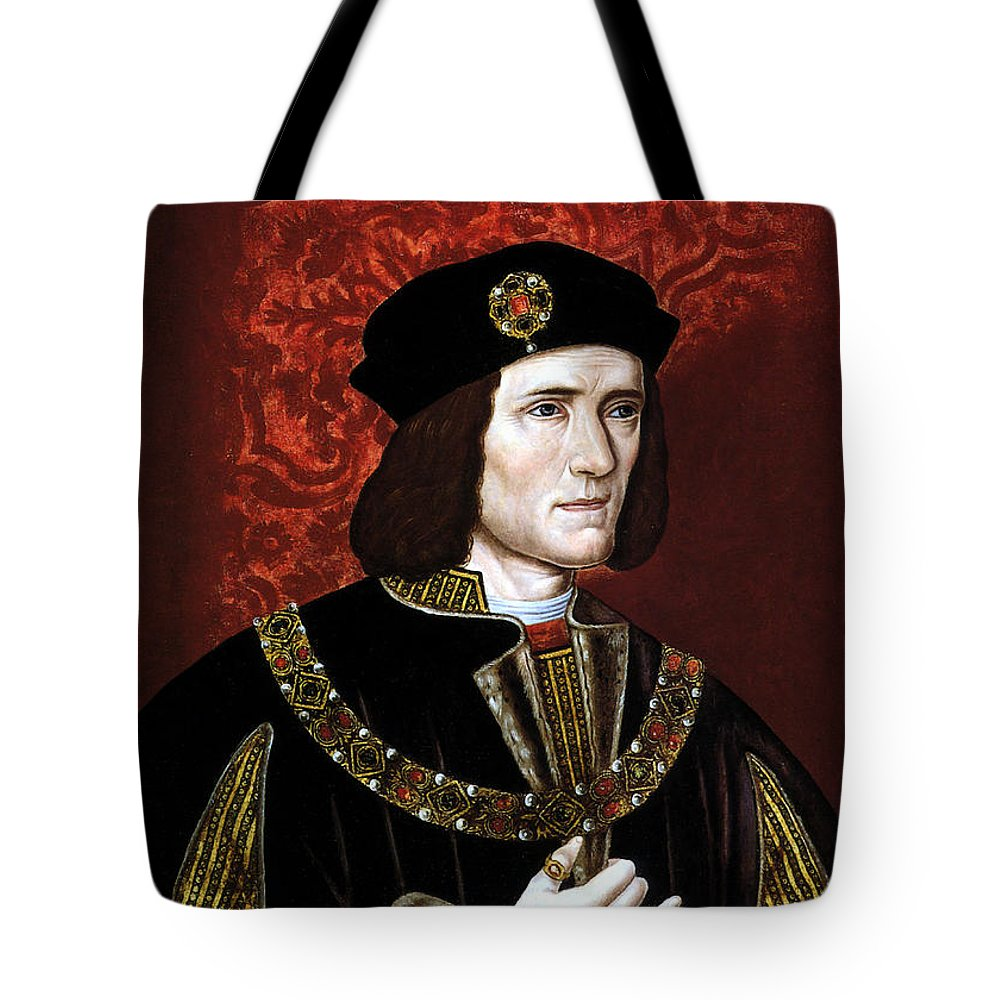 Richard Iii Tote Bag featuring the painting King Richard IIi Of England by War Is Hell Store