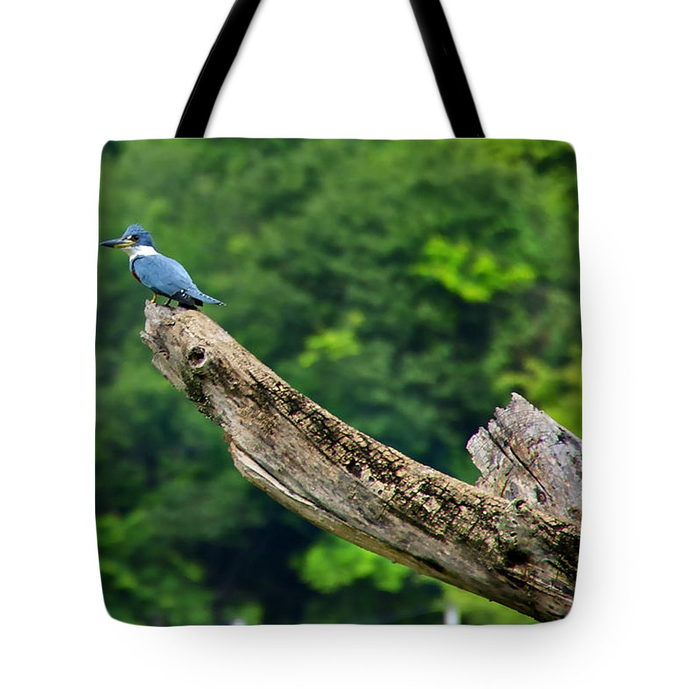 Kingfisher Tote Bag featuring the photograph Kingfisher by Bibi Rojas