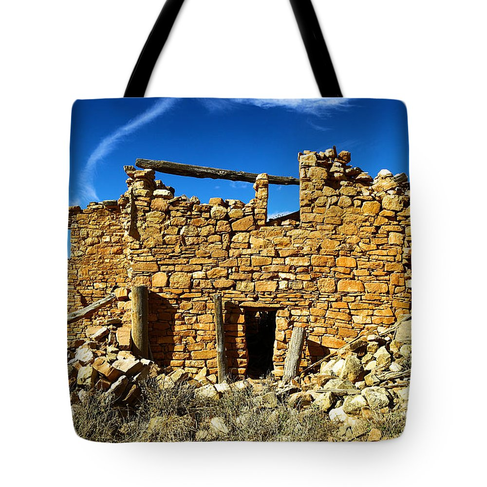 Architecture Tote Bag featuring the photograph Kinishba Ruins by Jeff Swan