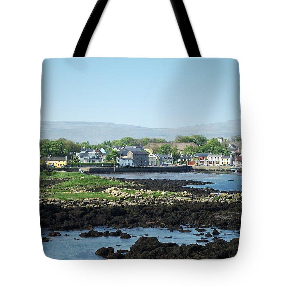 Irish Tote Bag featuring the photograph Kinvara Seaside Village Galway Ireland by Teresa Mucha