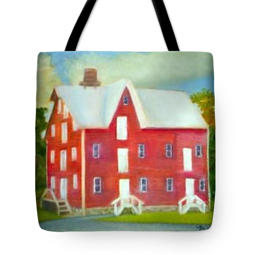 Kirby Mill Tote Bag featuring the painting Kirby's Mil by Sheila Mashaw