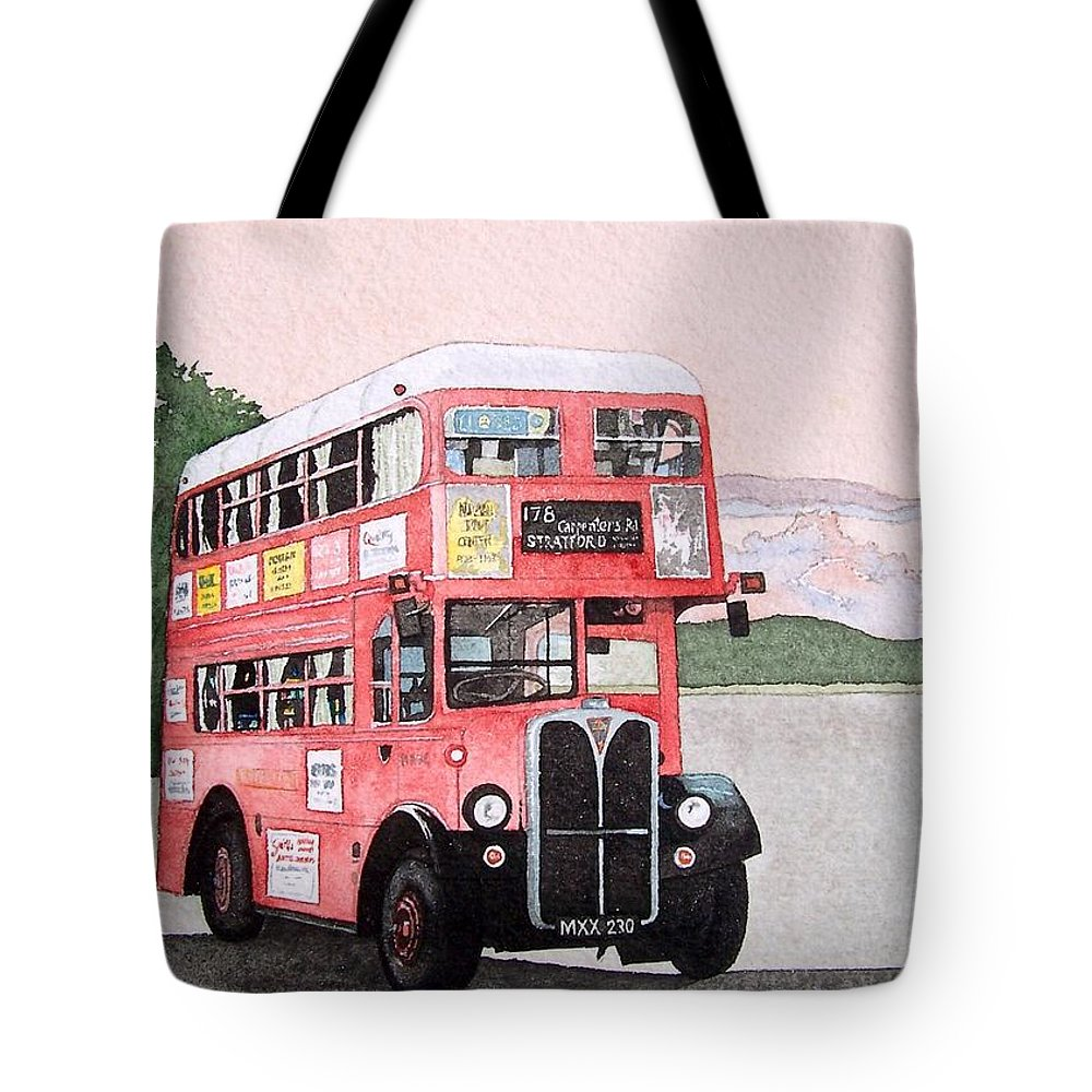 Bus Tote Bag featuring the painting Kirkland Bus by Gale Cochran-Smith