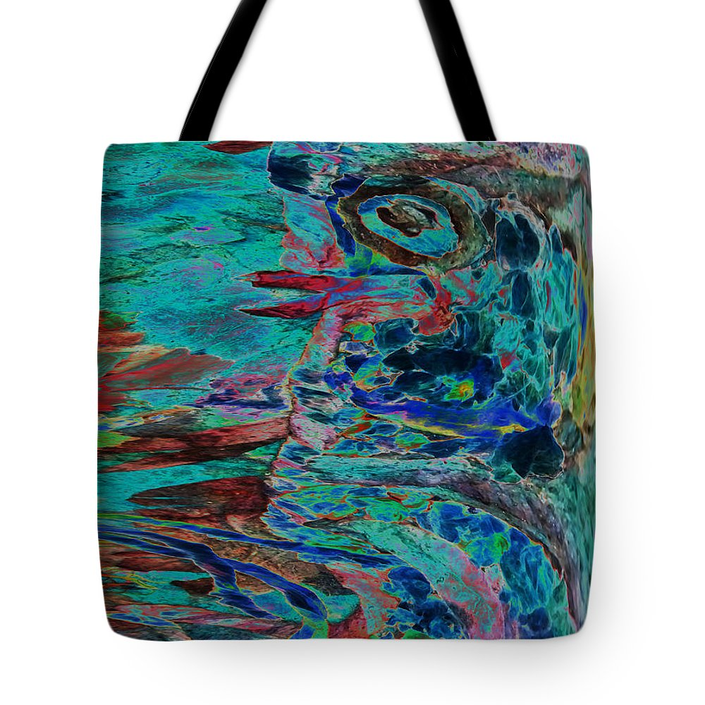 Eye Tote Bag featuring the mixed media Kiss Me Baby by Sue Duda